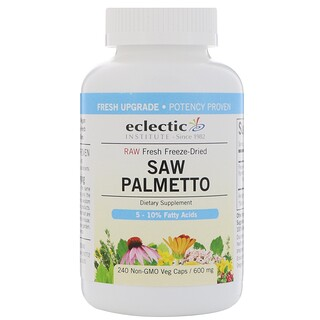 Eclectic Institute, Saw Palmetto, 600 mg, 240 Non-GMO Veg Caps