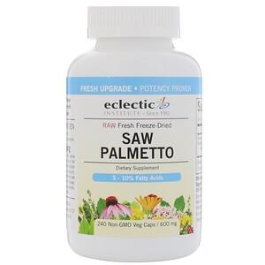 Эклектик Институт, Raw Fresh Freeze-Dried, Saw Palmetto, 600 mg, 240 Non-GMO Veg Caps отзывы покупателей