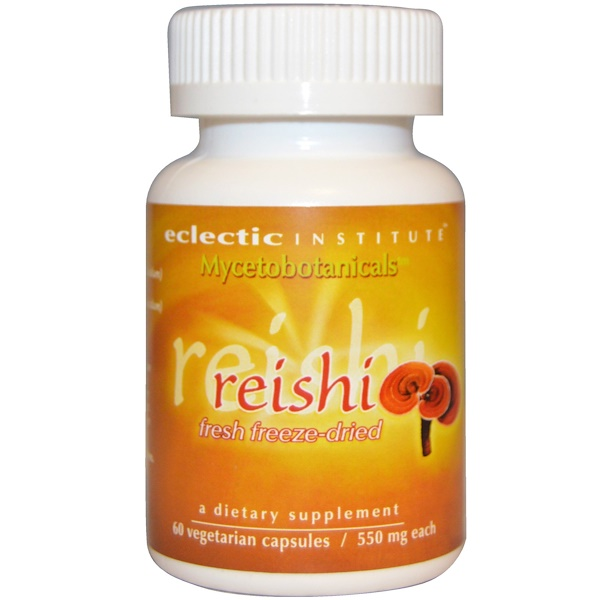 Eclectic Institute, Mycetobotanicals, Reishi, Fresh-Freeze Dried, 550 mg, 60 Veggie Caps