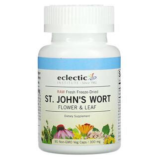 Eclectic Institute, Raw Fresh Freeze-Dried, St. John's Wort, 300 mg, 90 Non-GMO Veg Caps