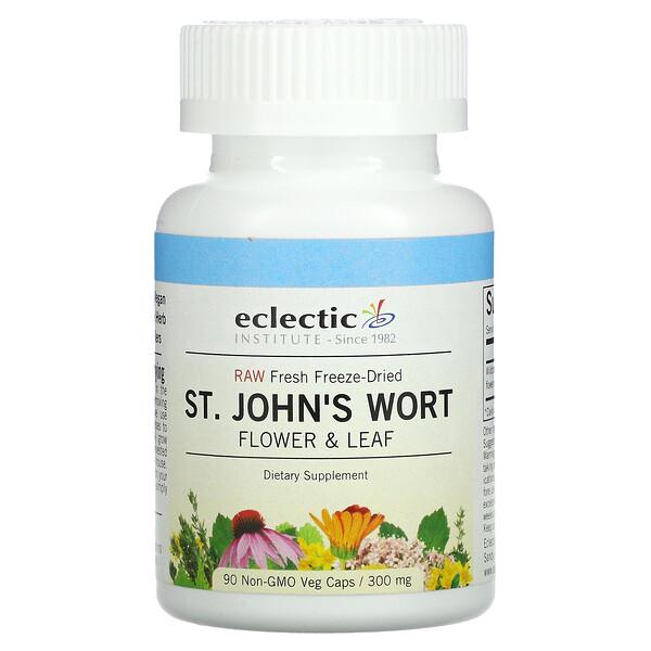 Raw Fresh Freeze-Dried, St. John's Wort, 300 mg, 90 Non-GMO Veg Caps