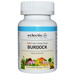 Eclectic Institute, Burdock, Raw, 500 mg, 90 Non-GMO Veggie Caps