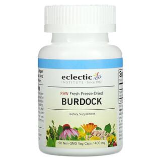 Eclectic Institute, Raw Fresh Freeze-Dried, Burdock, 400 mg, 90 Non-GMO Veg Caps