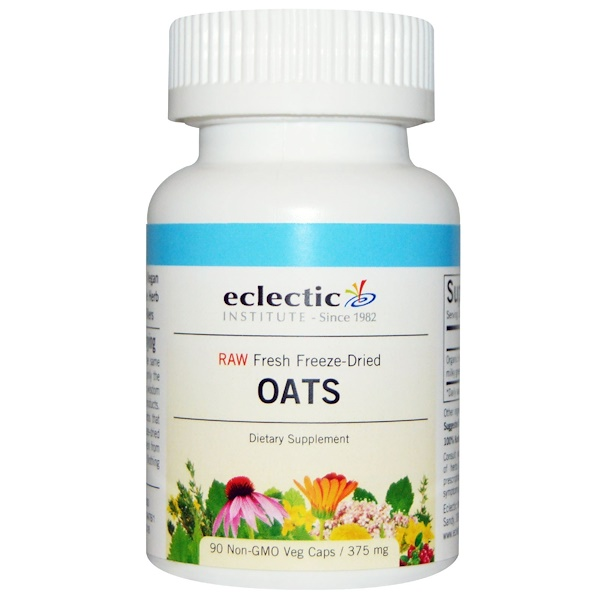 Eclectic Institute, Oats, 375 mg, 90 Non-GMO Veggie Caps (Discontinued Item)