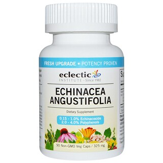 Eclectic Institute, Эхинацея узколистная, 325 мг, 90 вегетарианских капсул