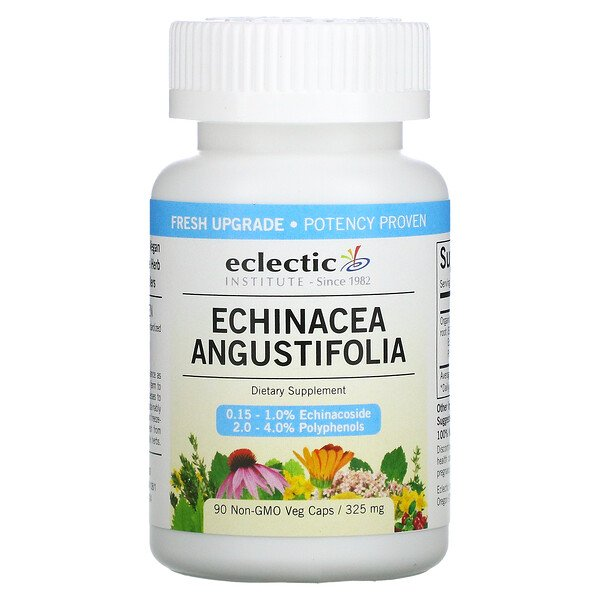 Echinacea Angustifolia, 325 mg, 90 Non-GMO Veg Caps