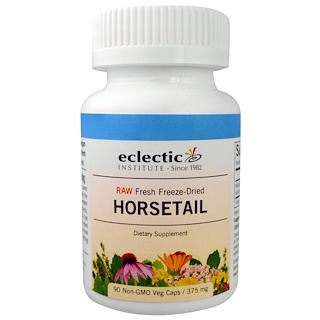 Eclectic Institute, Horsetail, 375 mg, 90 Veggie Caps