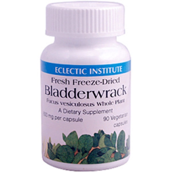 Eclectic Institute, Bladderwrack, 600 mg, 90 Veggie Caps (Discontinued Item)