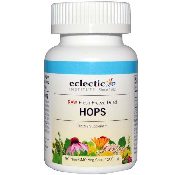 Eclectic Institute, Hops, 200 mg, 90 Non-GMO Veggie Caps