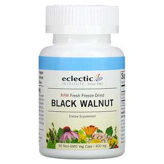 Eclectic Institute, Raw Fresh Freeze-Dried, Black Walnut, 400 mg, 90 Non-GMO Veg Caps