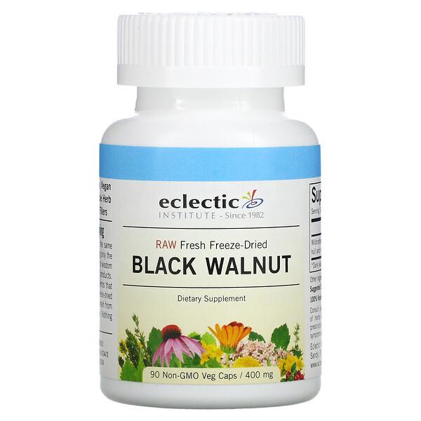 Raw Fresh Freeze-Dried, Black Walnut, 400 mg, 90 Non-GMO Veg Caps