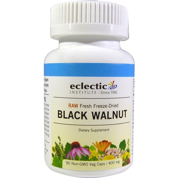 Eclectic Institute, Black Walnut, 400 mg, 90 Veggie Caps