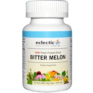 Eclectic Institute, Melón amargo, 200 mg, 90 cápsulas vegetales sin OGMs