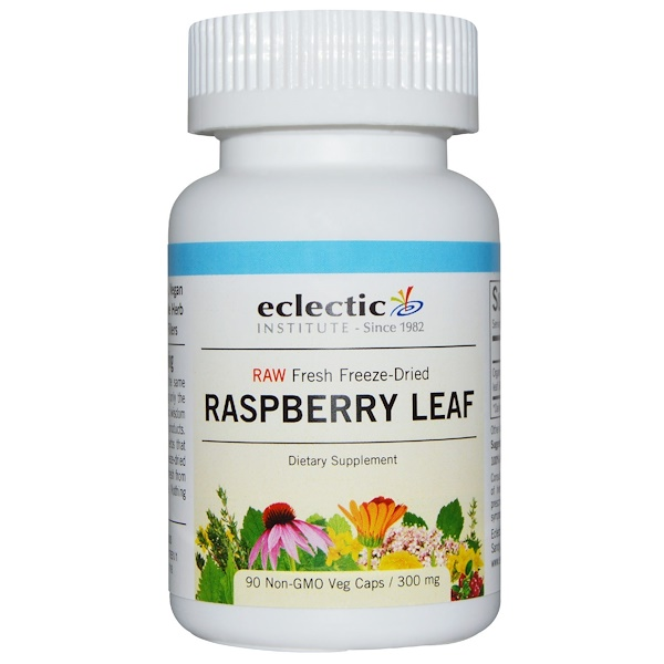 Eclectic Institute, Raspberry Leaf, 300 mg, 90 Non-GMO Veggie Caps (Discontinued Item)