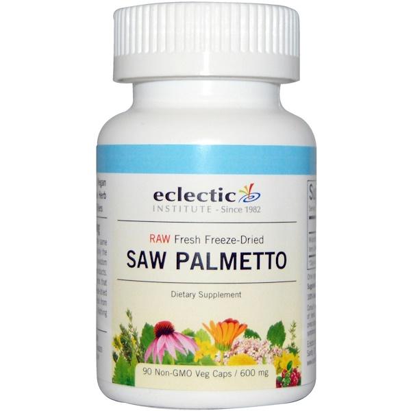Eclectic Institute, Saw Palmetto , 600 mg, 90 Non-GMO Veg Caps (Discontinued Item)