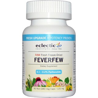 Eclectic Institute, Feverfew, 125 mg, 90 Non-GMO Veggie Caps