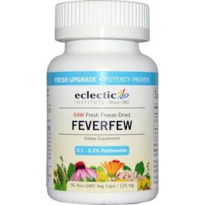 Эклектик Институт, Raw Fresh Freeze-Dried, Feverfew, 125 mg, 90 Non-GMO Veg Capsules отзывы