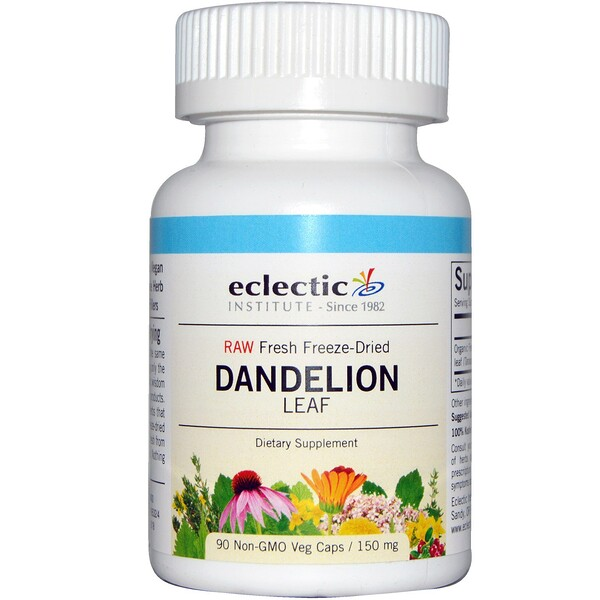 Eclectic Institute, Dandelion Leaf, 150 mg, 90 Non-GMO Veg Caps