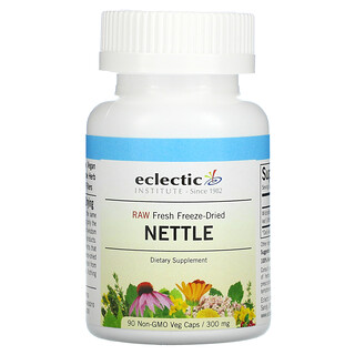 Eclectic Institute, Raw Fresh Freeze-Dried, Nettle, 300 mg, 90 Non-GMO Veg Caps