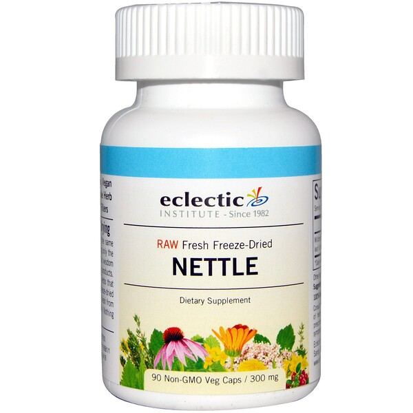 Eclectic Institute, Nettle, 300 mg, 90 Non-GMO Veggie Caps