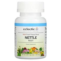 Eclectic Institute, 未加工新鮮凍乾,蕁麻根,300 毫克,90 粒 Non-GMO 素食膠囊