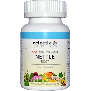Eclectic Institute, Nettle Root, Raw, 250 mg, 90 Non-GMO Veggie Caps