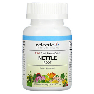 Eclectic Institute, Raw Fresh Freeze-Dried, Nettle Root, 300 mg, 90 Non-GMO Veg Caps