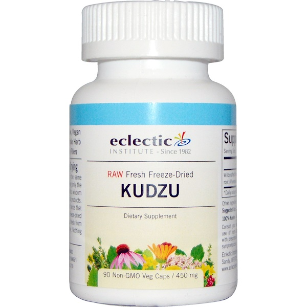Eclectic Institute, Kudzu, 450 mg, 90 Non-GMO Veggie Caps (Discontinued Item)