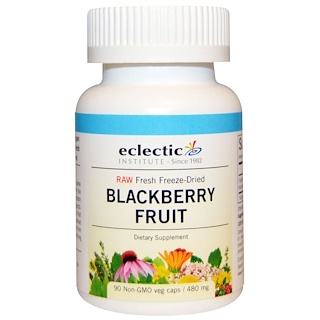 Eclectic Institute, Blackberry Fruit, 480 mg, 90 Non-GMO Veggie Caps