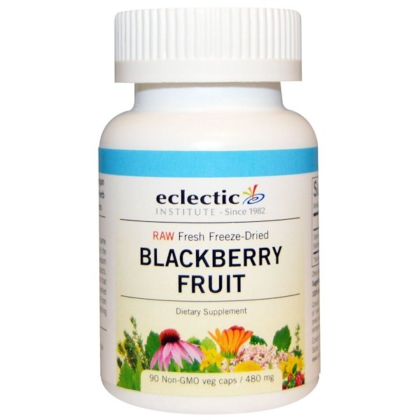 Eclectic Institute, Blackberry Fruit, 480 mg, 90 Non-GMO Veg Caps