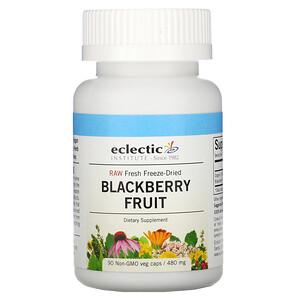Эклектик Институт, Raw Fresh Freeze-Dried, Blackberry Fruit, 480 mg, 90 Non-GMO Veg Caps отзывы