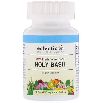 Купить Eclectic Institute Туласи (Holy Basil), 200 мг, 90 растительных капсул без ГМО