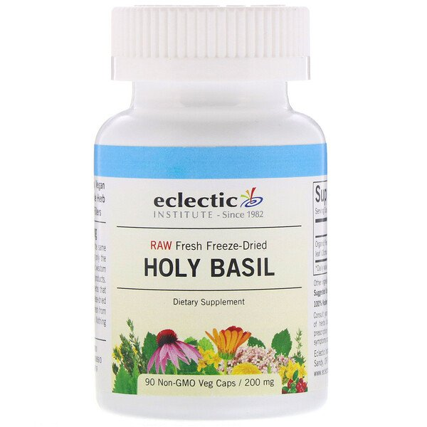 Holy Basil, 200 mg, 90 Non-GMO Veg Caps