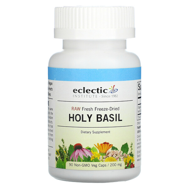 Eclectic Institute, Holy Basil، 200 مجم، 90 كبسولة نباتية غير معدلة وراثيًا