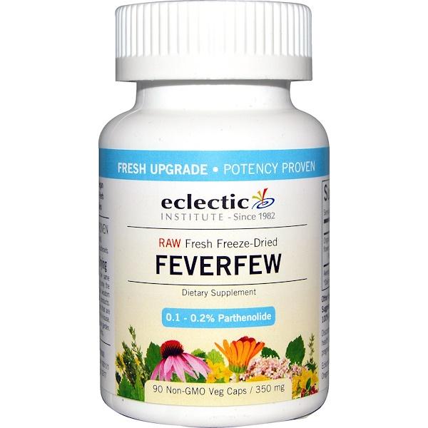Eclectic Institute, Feverfew, 350 mg, 90 Non-GMO Veggie Caps (Discontinued Item)