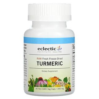 Eclectic Institute, Raw Fresh Freeze-Dried, Turmeric, 395 mg, 90 Non-GMO Veg Caps
