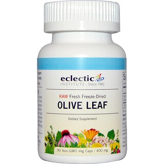 Eclectic Institute, Olive Leaf, 400 mg, 90 Non-GMO Veggie Caps