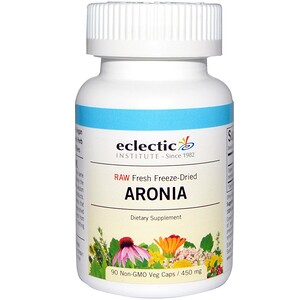 Эклектик Институт, Raw Fresh Freeze-Dried, Aronia, 450 mg, 90 Non-GMO Veg Caps отзывы покупателей