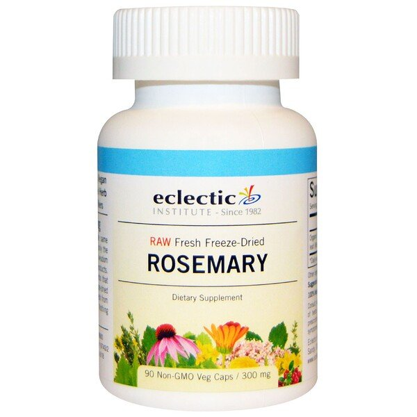 Eclectic Institute, Rosemary, 300 mg, 90 Veggie Caps