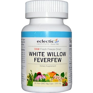 Эклектик Институт, White Willow Feverfew, 350 mg, 90 Non-GMO Veggie Caps отзывы