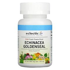 Eclectic Institute, 未加工新鮮凍乾,紫錐菊白毛茛,350 毫克,90 粒 Non-GMO 素食膠囊