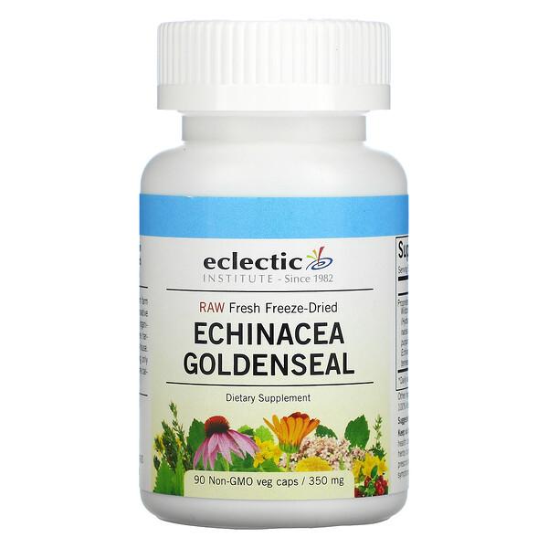 Raw Fresh Freeze-Dried, Echinacea Goldenseal, 350 mg, 90 Non-GMO Veg Caps