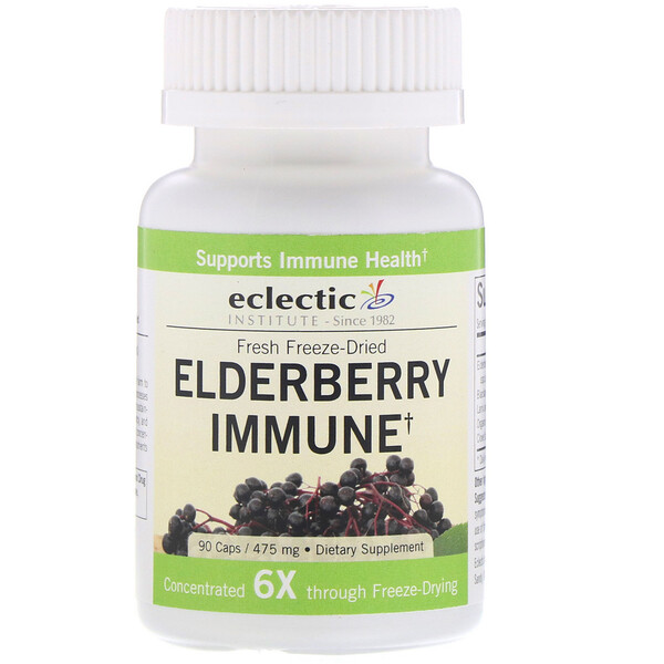 Eclectic Institute, Elderberry Immune, 475 mg, 90 Caps