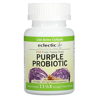 Eclectic Institute, Raw Fresh Freeze-Dried, Purple Probiotic, 300 mg, 90 Caps