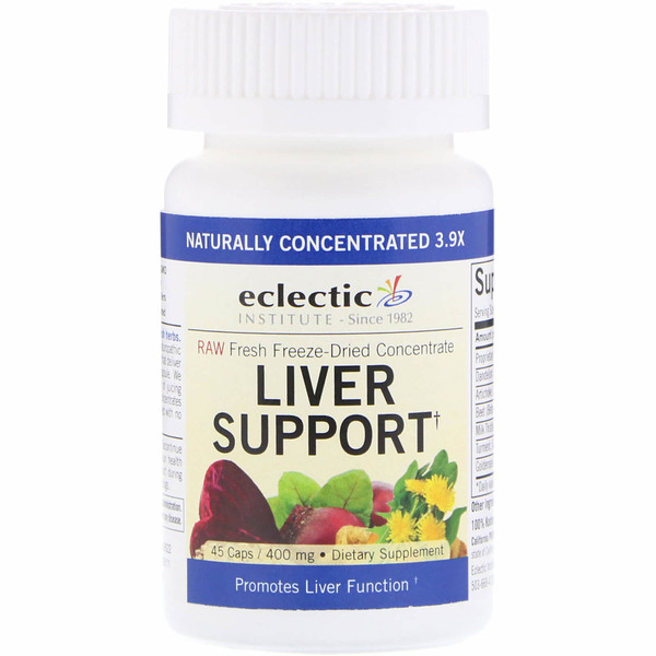 Eclectic Institute, Liver Support, 400 mg, 45 Caps (Discontinued Item)