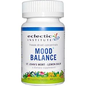 Эклектик Институт, Mood Balance, St. John's Wort — Lemon Balm, 300 mg, 45 Veggie Caps отзывы