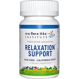 Эклектик Институт, Relaxation Support, Kava Kava — California Poppy, 350 mg, 45 Veggie Caps отзывы