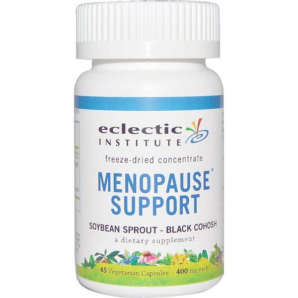 Eclectic Institute, Menopause Support, Soybean Sprout - Black Cohosh, 400 mg, 45 Veggie Caps (Discontinued Item)