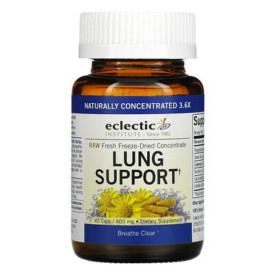 Eclectic Institute Укрепление здоровья легких, 400 мг, 45 растительных капсул