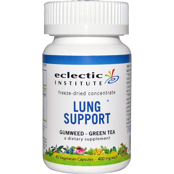 Eclectic Institute, Lung Support, 400 mg, 45 Veggie Caps (Discontinued Item)